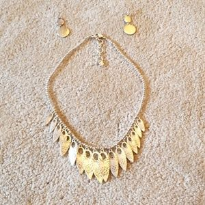 Lucky brand earings and necklace